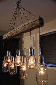 chic hanging light chandelier mason jar light fixture chandelier