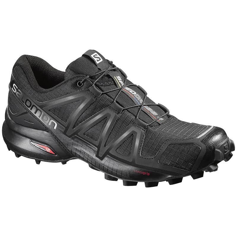 Salomon Speedcross 4 Trail Running Shoe Black/Black/Black Metallic Medium 9 L38309700-9