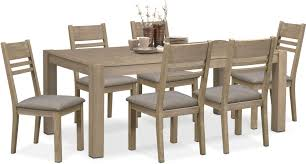 tribeca table and 6 side chairs gray value city furniture