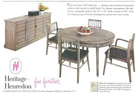 henredon dining room table of also american made images atablero com
