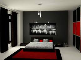 awesome red and black bedroom design ideas with nice low profile