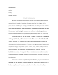 Essay    Final Draft  I Am Monster Learn NC