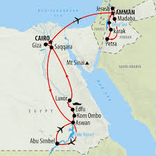 Egypt On A World Map by Egypt U0026 Jordan Private Tour In 15 Days On The Go Tours