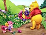 Wallpapers Backgrounds - desktop backgrounds Cartoon wallpapers (Cartoon wallpapers Walt Disney cartoons Pooh Piglet summertime desktop backgrounds hd net 1024x768)