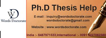 phd thesis help in bangalore