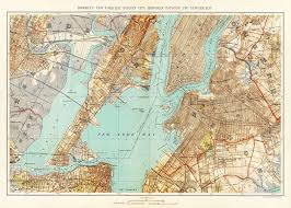 Brooklyn New York Map by New York City Map 1893 Map Of New York Newark Brooklyn Vintage
