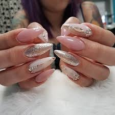 nail art designs 2017 summer stiletto pink acrylic gel