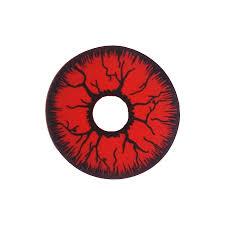 mesmereyez fancy dress halloween mini sclera contact lenses red rage
