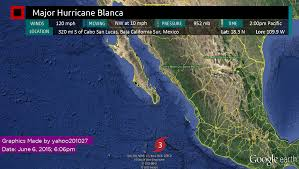 Sierra Madre Occidental Map Hurricane Blanca Threatens Cabo As It Slowly Weakens Tropical