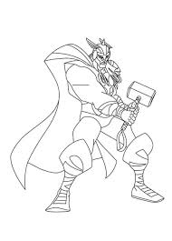 marvel superhero thor coloring pages womanmate com