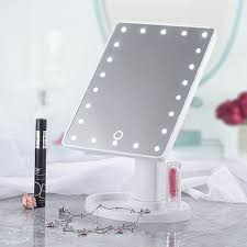 Light Up Makeup Mirror 20 Led Lights Vanity Makeup Mirror Touch Screen Lighted Tabletop