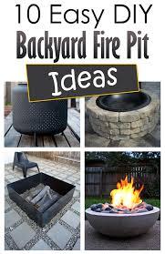 Ideas For Fire Pits In Backyard by 10 Easy Diy Backyard Fire Pit Ideas