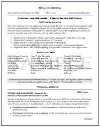 Ecommerce Resume Sample by Insurance Advisor Resume Sample Knockemdead