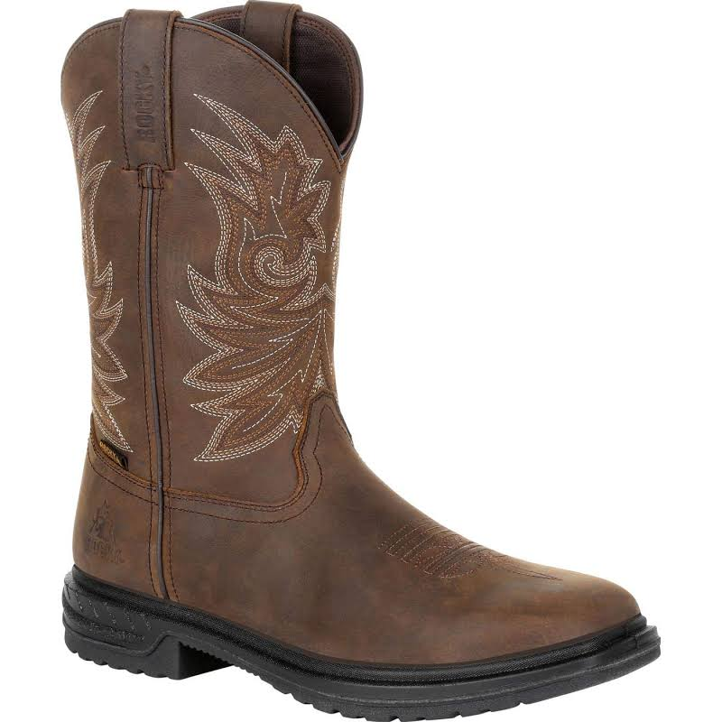 "Rocky Worksmart 11"" Western Boot, Adult,"