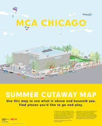 Chicago On The Map by Mca Summer Cutaway Map