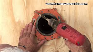 how to fix a toilet wooden sub flooring flange repair part 1