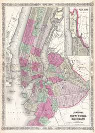 Map New York City by File 1866 Johnson Map Of New York City And Brooklyn Geographicus
