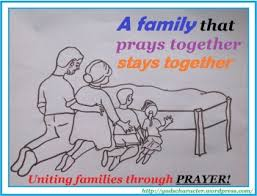 Theme of the day the family that prays together stays together k  k club