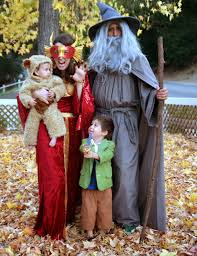 Family Of 3 Halloween Costume by Beyond Fine Hobbit Family Costume