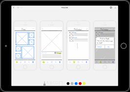 bluprint a paper prototyping app for ipad pro