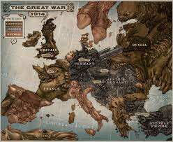 Map Of 1914 Europe by Caricature Map Of Europe 1914