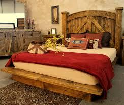 inspiring rustic bedroom decor ideas homesfeed beautiful rustic bedroom idea with rustic platform bed plus rustic headboard rustic credenza a pair of
