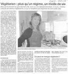 Article Ouest France pro-v��g��tarisme Ouest France 13/10/2006.