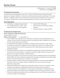 Best Resume Examples Professional by Professional Master Electrician Templates To Showcase Your Talent