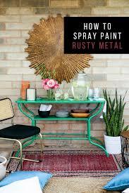 Spray Painting Metal Patio Furniture - how to spray paint rusty metal u2013 hawthorne and main