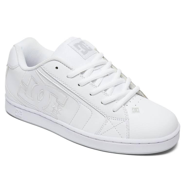 Dc Net Se Low Top Leather Skateboarding Shoe 9.5M White / White