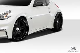 nissan 370z all black 09 16 fits nissan 370z n 3 duraflex side skirts body kit 112274