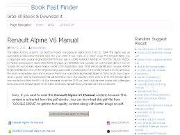 25 renault alpine v6 manual