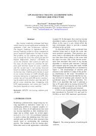 gpu based ray tracing algorithm using uniform grid structure pdf
