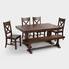 mahogany verona trestle table world market