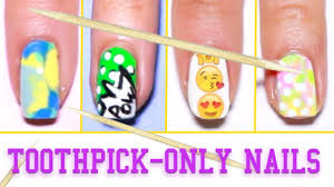6 easy nail art designs using a toothpick youtube
