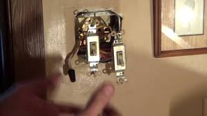 how to wire a double switch light switch wiring conduit youtube
