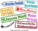 merry christmas in different languages poster