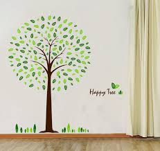 amazon com hunnt happy tree wall sticker decal ideal for kids