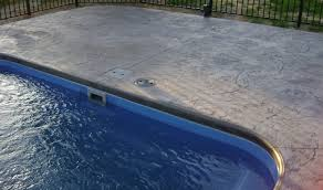 How To Seal A Paver Patio by Pool Patio Materials Stamped Concrete Vs Pavers