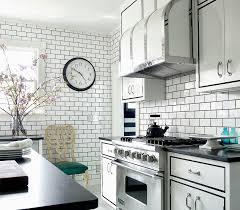 implemented subway tile kitchen for modern kitchen look eva