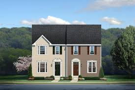How Many Square Feet Is A 1 Car Garage New Strauss Townhome Model For Sale At Creekside Village 1 Car