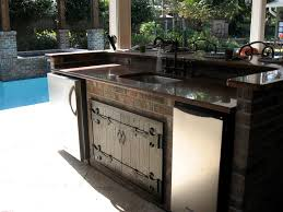 cute outdoor kitchen cabinets come with stainless steel double