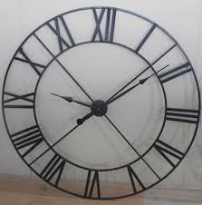 extra large 110cm black metal wall clock life man pinterest