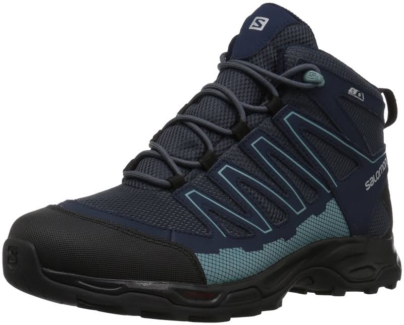 Salomon Pathfinder Mid Climashield Waterproof Hiking Boots Blue