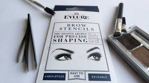 bylungi beauty how i shaped my brows using a brow stencil