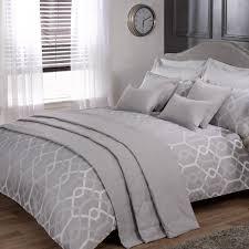 bedding set black grey colour stylish matallic floral diamante