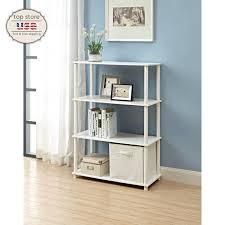 4 Shelf Bookcase White by Modern Bookcase 5 Shelf Display Stand Bookshelf Room Divider Wood