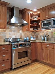 Height Of Kitchen Cabinet by Granite Countertop Wood Stained Cabinets Hotpoint Integrated