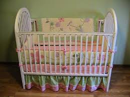 Vintage White Baby Crib by Baby Nursery Divine Baby Nursery Room Ideas Using Ruffle