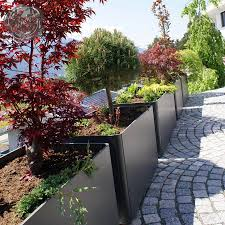 Outdoor Wall Planters by Modern Outdoor Planters Rectangular Tall Planter Pot 24